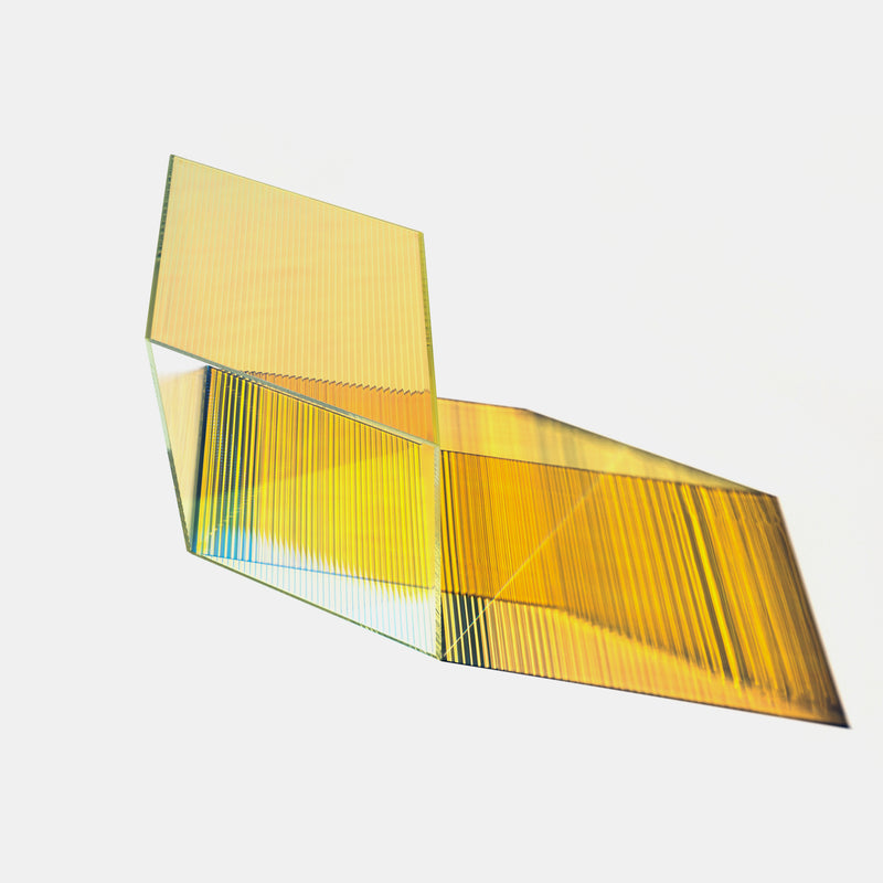 Rho Coffee Table - Coloured Glass - Monologue London