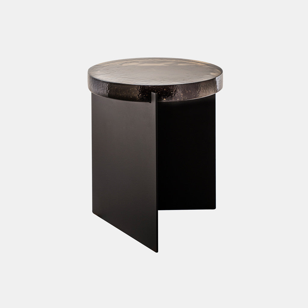 Alwa One Side Table - Grey glass - Monologue London