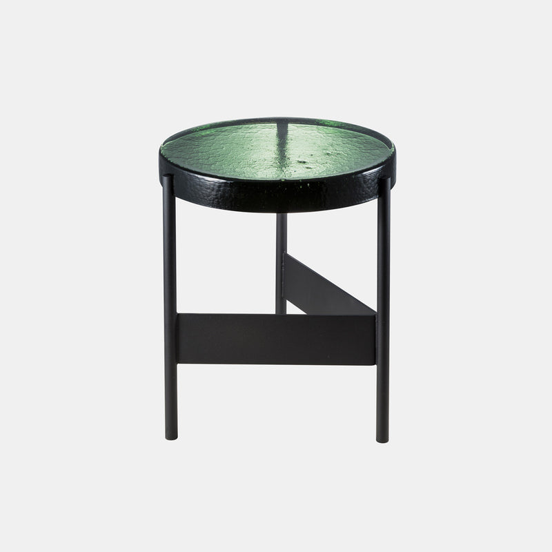 Alwa Two Side Table - Green glass - Monologue London