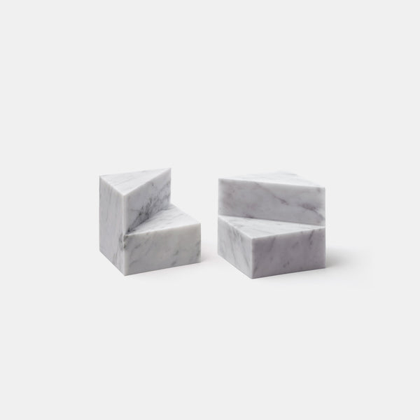 Kilos Bookends - Carrara - Set of Two