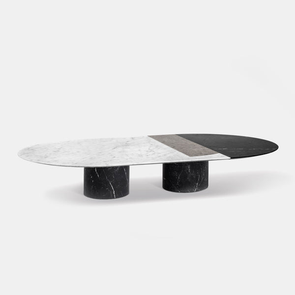 Proiezioni Oval Coffee Table - Black - Monologue London