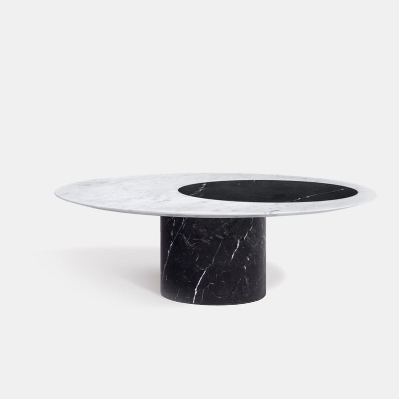 Proiezioni Round Coffee Table - Black - Monologue London