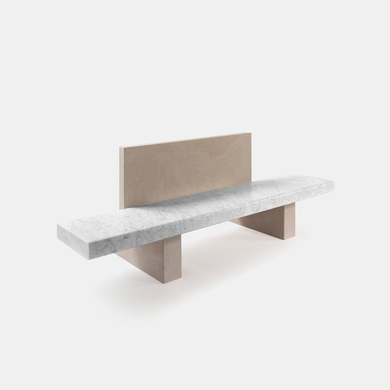 Span Outdoor Bench W/Backrest - Monologue London