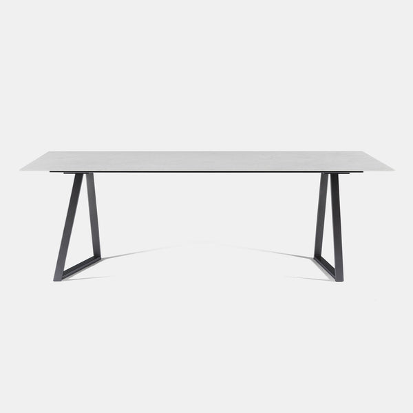 Dritto Dining Table - Bianco Carrara Honed - Monologue London