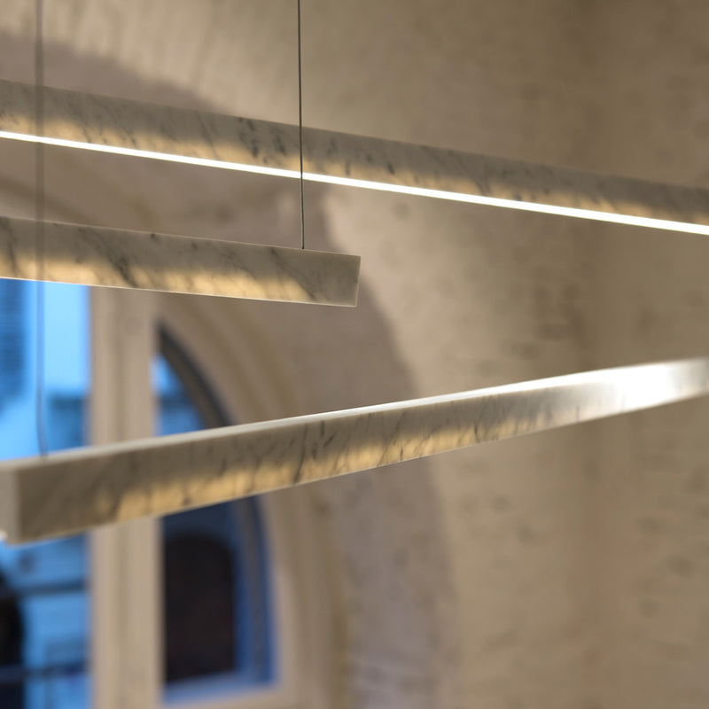 Farfalla Ceiling Lamp - Carrara marble - Monologue London