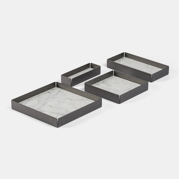 Modular Trays - Carrara marble, Set of 4 - Monologue London