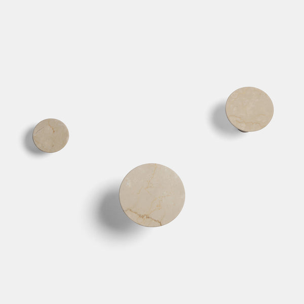 Wall Hooks - Botticino marble - Monologue London