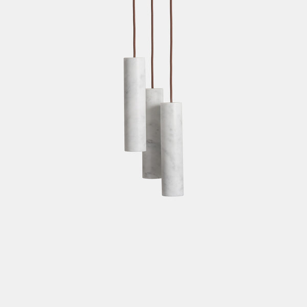 Silo Pendants - Bianco Carrara - Monologue London