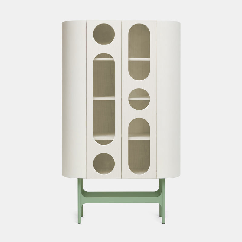 Oblo' B Cabinet - White & Green - Monologue London