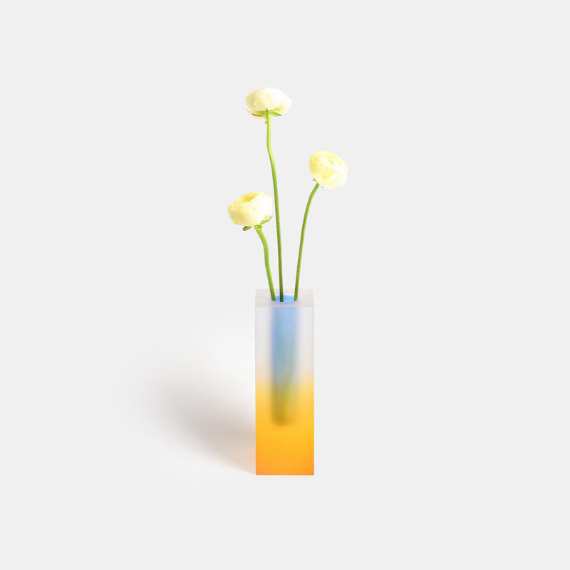 Mellow Vase - Yellow & Blue
