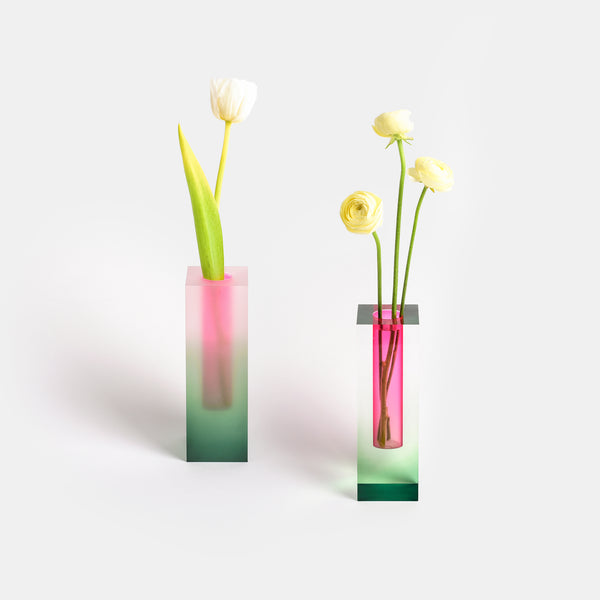 Mellow Vase - Green & Pink