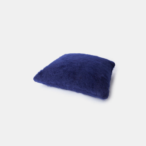 Mohair Cushion  - Navy Blue - Monologue London