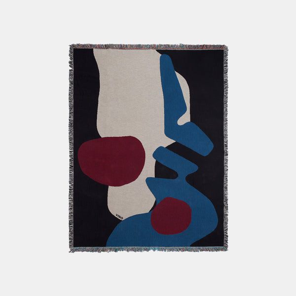 Tapestry Blanket - Black/Blue