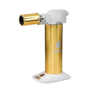 "Newport Table Top Torch 6"" - Gold/White"
