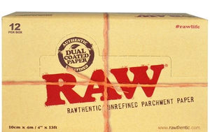 Raw Parchment Paper 4X13 12 ct