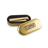 Clipper Full Metal Lighter Display - 12ct - Gold