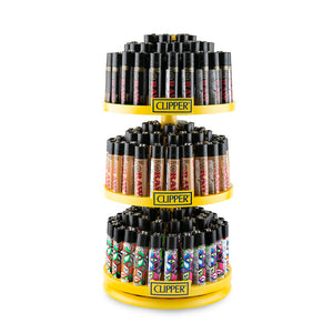 Clipper Lighter Carousel - 144ct + 12 Free - RAW