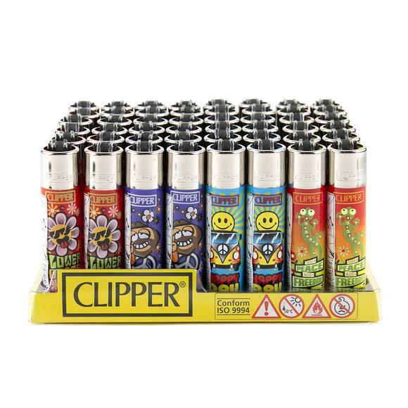 Clipper Lighter Display - 48ct - Hippie