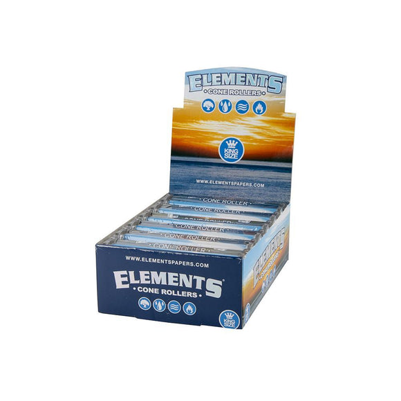 Elements Cone Rollers - King Size - 12ct
