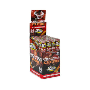 Cyclone Clear Wraps - Strawberry - 24ct