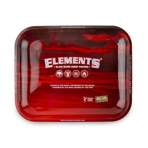 Elements Rolling Tray Red - Large