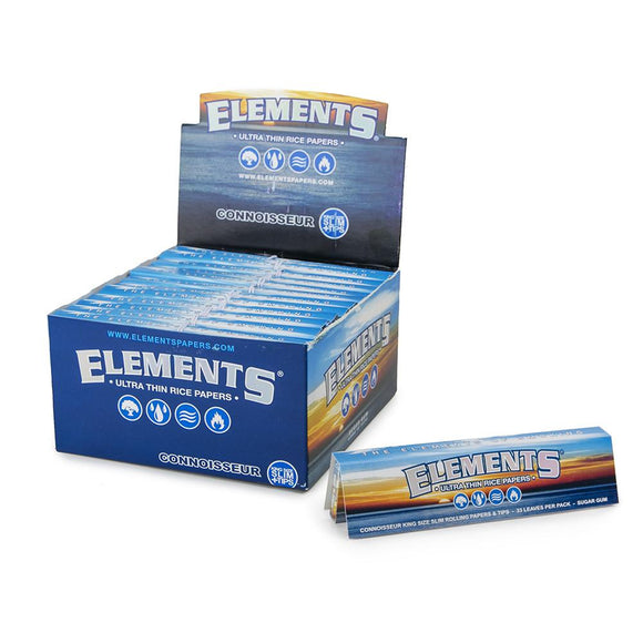 Elements Connoisseur King Size w/ Tips - 24ct