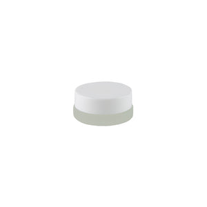 Frosted Glass Thick Wall Container / 7ML / White / 90 Ct