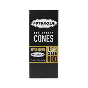 Futurola Cones / 1 1/4 / Dutch Brown / 900 Ct