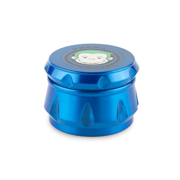 Green Monkey Grinder - Crown - Blue - 50MM