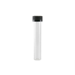 Glass Blunt Tubes - Child Proof - Black Cap - 144ct