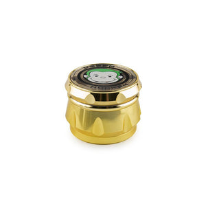 Green Monkey Grinder - Crown - Clear Top - Gold - 63MM