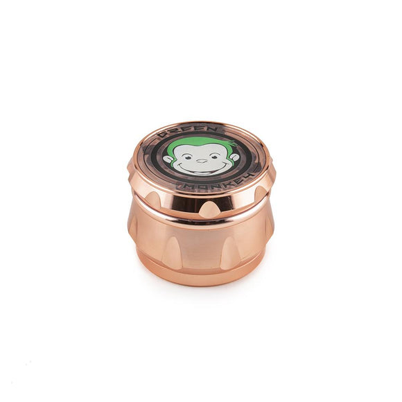 Green Monkey Grinder - Baboon - Clear Top - Rose Gold - 63MM