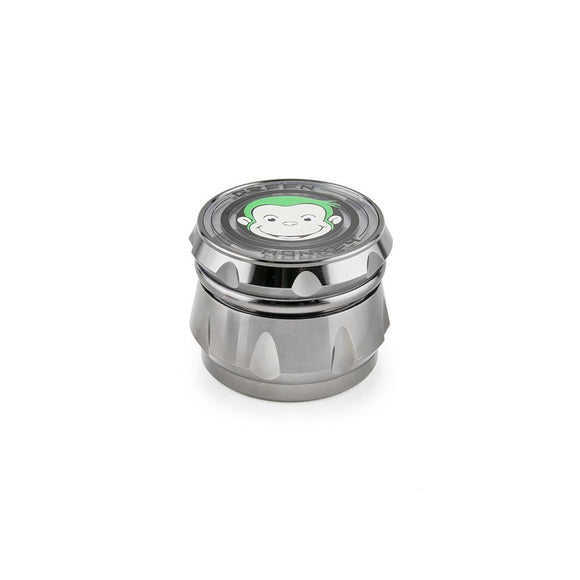 Green Monkey Grinder - Baboon - Clear Top - Silver - 63MM