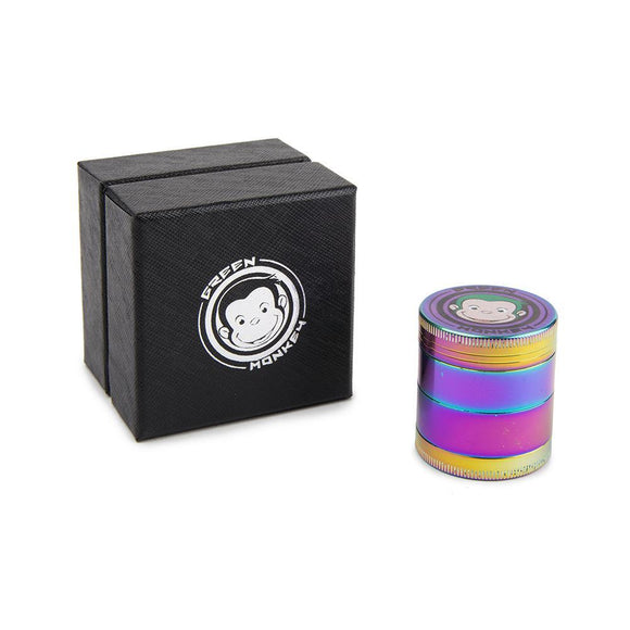 Green Monkey Rainbow Grinder  - 40MM