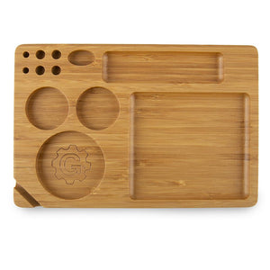 Grindhouse Rolling Tray with Storage - 6 x 9 - Bamboo