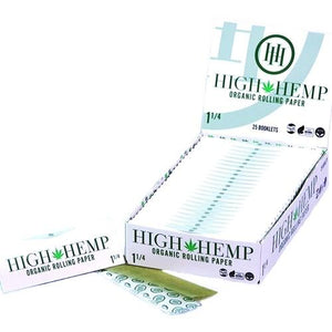 High Hemp 1 1/4 Organic Rolling Papers - 25 Ct