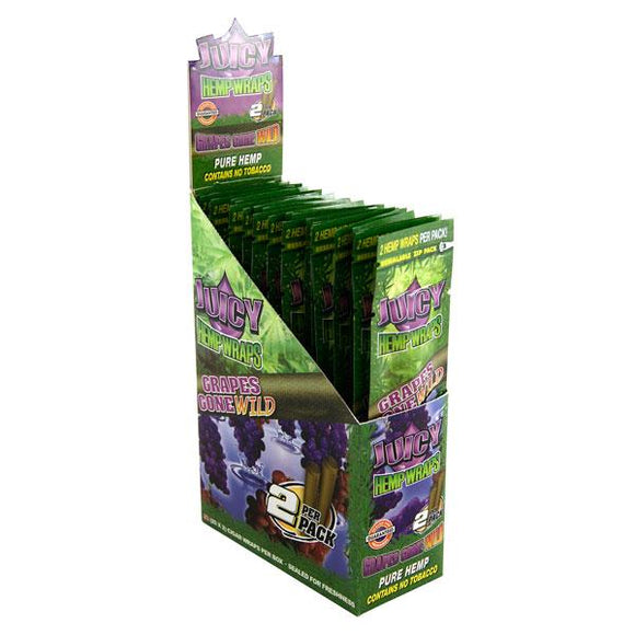 Juicy Jays Hemp Wraps Grape Flavor 25 CT