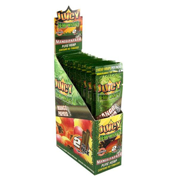 Juicy Jays Hemp Wraps Mango Papaya Flavor 25 CT