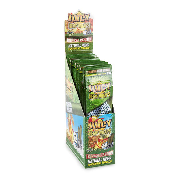 Juicy Jays Hemp Wraps Tropical Passion Flavor 25 CT