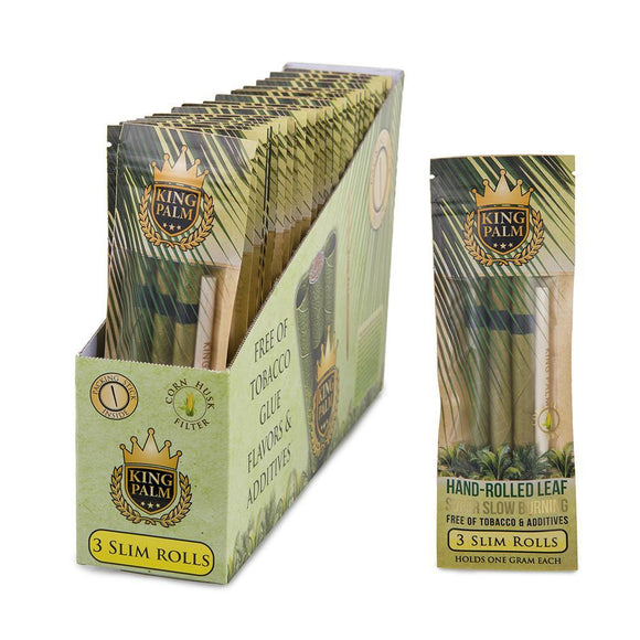 King Palm Slim Size 3pk-24ct Display Box