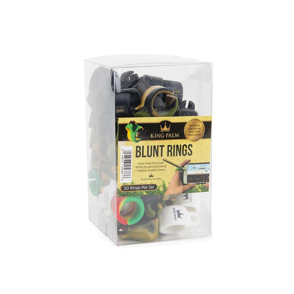 King Palm Silicone Blunt Ring Display - 50ct
