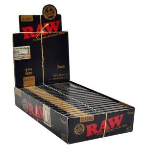 Raw Black Classic Rolling Papers Single Wide 25ct