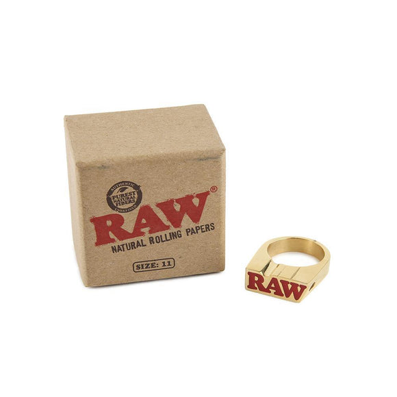 RAW Smoke Ring Gold - Size 11