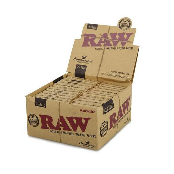 Raw Classic Connoisseur King Size Slim + Tips - 24ct