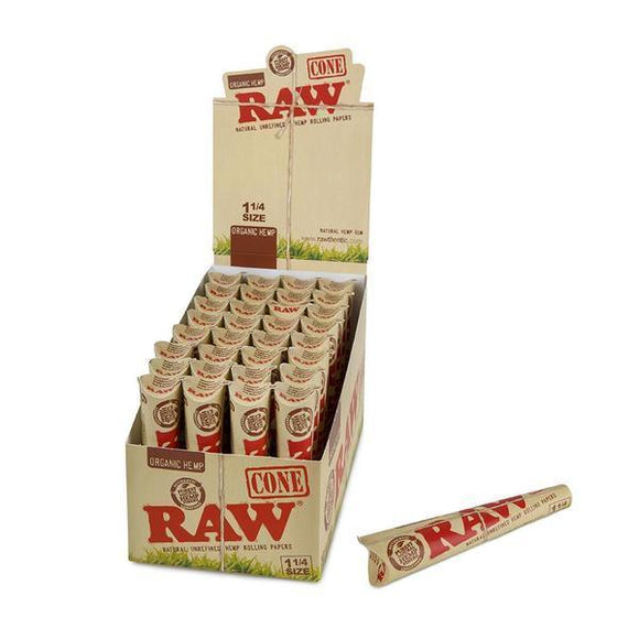 RAW Organic Hemp 1 1/4 Cones - 6pk - 32ct