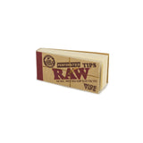 Raw Wide Tips Perforated Hemp Cotton - 50Ct
