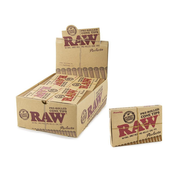 RAW Pre Rolled Cone Tips - Perfecto - 20ct