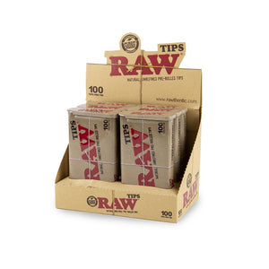 RAW Pre Rolled Tips in Tin - 6ct