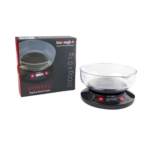 Truweigh Vortex Digital Bowl Scale 2000G X 0.1G - Black