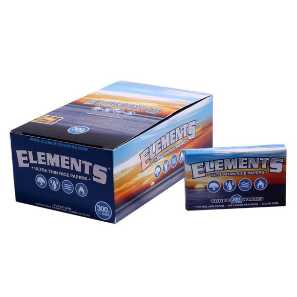 Elements Ultra Thin Rice Papers 1 1/4 - 300s - 20Ct